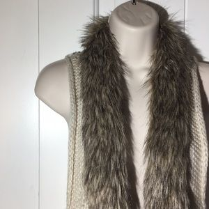 BKE Sweater Vest with Fur